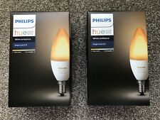 2 x Philips Hue E14 White Ambiance Single Bulb. 470 Lumen 50 60Hz. 6w. NEW Boxed