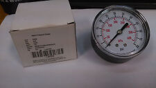 "2-1/2"" 63MM  Pressure Gauge 0-60 PSI Rear Mount 1/4"" BSPT NEW AIR HYDRAULIC"