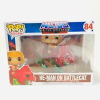 Funko Pop! Rides Masters of The Universe MOTU He-Man on Battle Cat #84 MIB