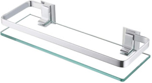 Shelf Kits Glass Bathroom Shelves Tempered Glass Strong Durable Extra Thick Silv