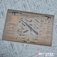 RUSSIAN AK47 rifle GUN  descomposition diagram Poster 42x60cm cmkraftpaper