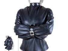 Straight jacket, Blac Full costume party escapology, PU quality item, Size M