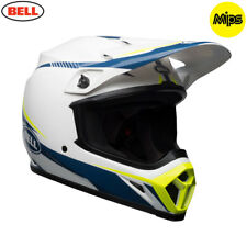 Bell MX 2018 MX-9 Mips Adult Helmet (Torch White/Blue/Yellow) MEDIUM 57 - 58cm