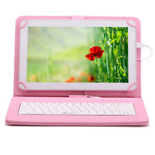 "iRULU Tablet PC 10.1"" Screen Google Android 5.1 8GB 1024*600 Pad & Pink Keyboard"