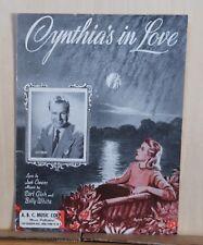 Cynthia's In Love  - 1942  sheet music - Jack Owens photo