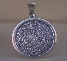 Phaistos Disk Pendant - Sterling Silver Minoan Period Mystery High Quality Item