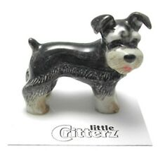 ➸ LITTLE CRITTERZ Dog Miniature Figurine Schnauzer Pepper