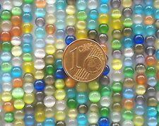 95 env PERLES rondes 4mm verre OEIL DE CHAT mix coul DIY Bijoux déco