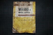 Komatsu Wa600 Wheel Loader Parts Manual Book Catalog Front End Rubber Tire List