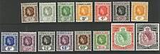Leeward Islands  1954  Scott # 133-147  Mint Lightly Hinged Set