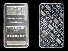 10 oz NTR Silver Bar .999 Fine