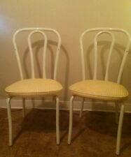 Vtg Pair Thonet Style French Bistro Cafe Parlor Dining Chairs White by DAYSTROM