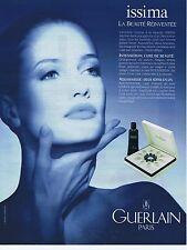 """PUBLICITE ADVERTISING 025 1992 GUERLAIN 'Issima"""""""