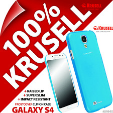 New Krusell FrostCover Hard Shell Case for Samsung i9500 Galaxy S4 Cover - Blue