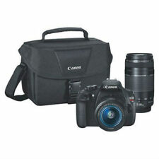 Canon - Eos Rebel T6 Dslr Camera with Ef-S 18-55mm Is Ii and Ef 75-300mm Ii&Bag