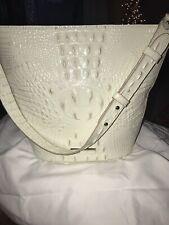 NWT Brahmin Quinn Crystal Melbourne Croc  Leather  Shoulder Tote Bag Purse $285