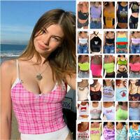 Womens Boob Bralet Cami Vest Ladies Summer Crop Top Tank Tops Blouse 2020 Hot