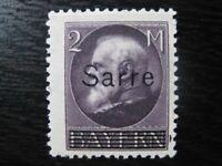 SAAR SAARLAND Mi. #28 scarce mint overprint stamp! CV $90.00