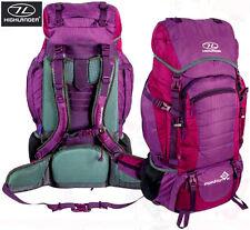 Large Travel Camping Backpack Travel Rucksack Back Pack Festival Purple Hiking 6