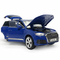 1:32 Audi Q7 SUV Model Car Diecast Gift Toy Vehicle Kids Sound Blue Collection