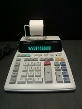 Sharp EL-180V 2 Color Printer Calculator 12 Digit 4 Key Memory Clock Calendar 93