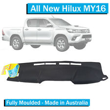 TO FIT: Toyota Hilux SR5 (2016-Current) - Dash Mat - Black -Fully Moulded - MY16
