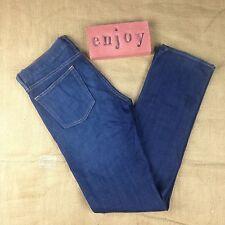 J Crew Matchstick Dark Wash Stretch Slim Leg Womens Size 28R Five Pockets