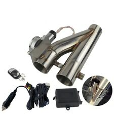 """2.5"""" or 3"""" Electric Exhaust Downpipe Cutout E-Cut Out Dual-Valve Remote Wireless"""