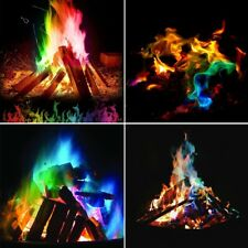 Mystical Magic Trick Fire Coloured Flames Bonfire Sachets Fireplace Colorful Toy