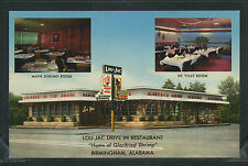 AL Birmingham CHROME 1950's LOU-JAC DRIVE IN RESTAURANT Multi View by Curt Teich