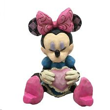 Disney Traditions Small Ornament Minnie Mouse With A Heart Mini Resin Figurine