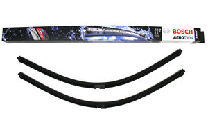 MERCEDES BENZ W220 W221 W215 W216 FRONT WINDSHIELD WIPER BLADE SET BOSCH OEM NEW