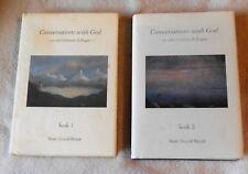 Conversations with God: An Uncommon Dialogue Book 1 & 2 Neale D. Walsch HC DJ