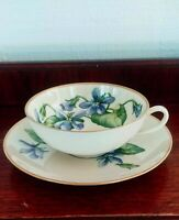 FRANCISCAN POTTERY CHINA - OLYMPIC - WIDEMOUTH  XLG CUP & SAUCER SET - EUC!