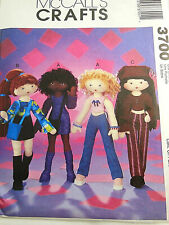 McCALL's 3700 OOP FUNKY FASHION DOLL SEWING PATTERN