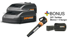 WORX Buy (2) 20V Batteries, Get FREE Cordless Turbine Blower & Charger!