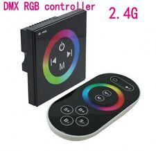 2.4G RGB DMX Decoder RF Remote Touch panel Led Controller Dimmer 12V/24V