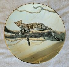 """""""African Leopard"""" collectable plate by Charles Frace"""