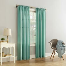 Mainstays Textured Solid Curtain Panel, Green