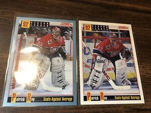 92/93 Score Patrick Roy Lot Of 2 Canadiens