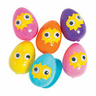 Hatching Plastic Easter Eggs With Googly Eyes - 12 Pc.