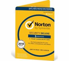 Norton Internet Security DELUXE 2018/2019 5 Devices 1 Year Fast Delivery Email
