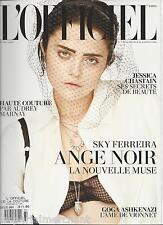 LOfficiel Couture fashion magazine Sky Ferreira Jessica Chastain Goga Ashkenazi