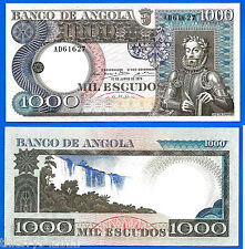 Angola 1000 Escudos 1973 Africa River Banknote Camoes FREE Shipping World Paypal