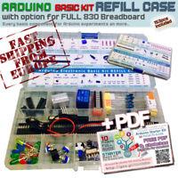 Arduino Electronic Kit 10ProjectPDF REFILL CASE [in plastic case 15comp] EU Ship