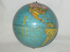 vintage New Peerless 6 Inch Terrestrial Globe World Earth Map * no base stand
