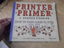 Printer Primer: Learn to Print, Learn to Spell by Jessica Fielding-1940