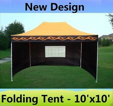 10' x 15' Pop Up Canopy Party Tent Gazebo EZ - Orange Flame - E Model