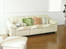 Maurice Villency Leather Sofa, Chair & Ottoman