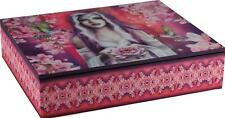 Older Girls Pink Floral Fairy Elora's Lined Jewellery Box 25cm